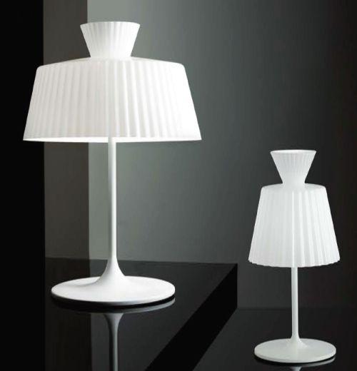 Katerina T22 Table Lamp 1x100W E27 white Shiny