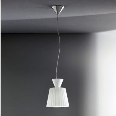 Katerina S22 Pendant Lamp Nickel matizado white Shiny