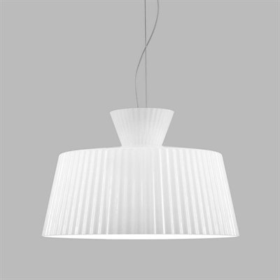 Katerina S50 C1 Pendant Lamp Nickel matizado white Shiny