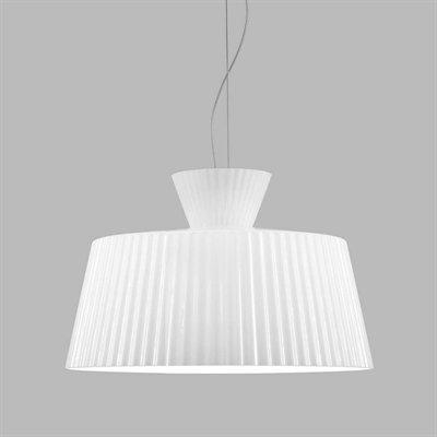 Katerina S50 Pendant Lamp Nickel matizado white Shiny