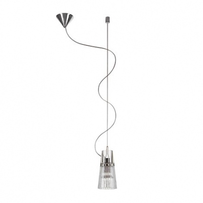Kon C/1 Pendant Lamp descentrada 1x40W E14 Glass/Chrome