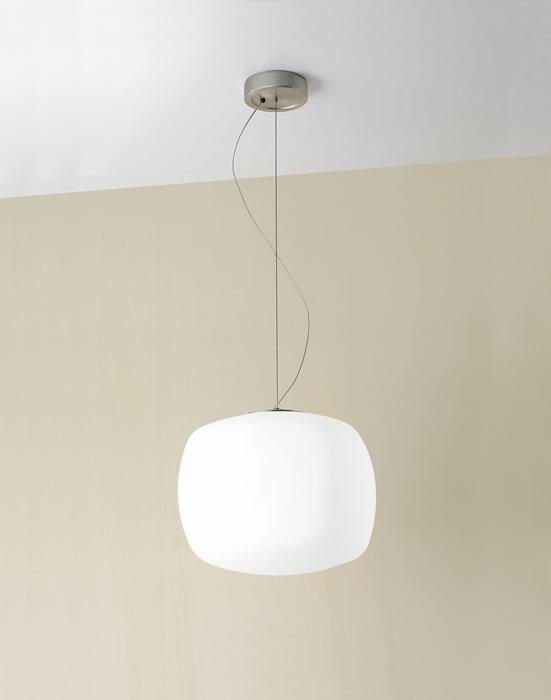 Kube S Pendant Lamp 1x150W E27 white Satin