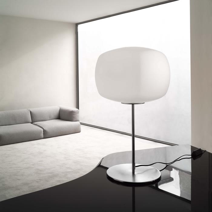 Kube T Table Lamp 1x150W E27 white Satin