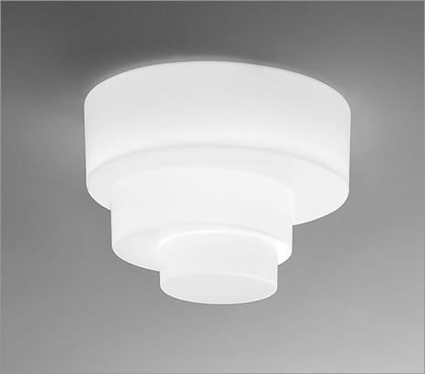 Loop PL ceiling lamp Wall lamp/ceiling lamp 1x150W E27 white Shiny