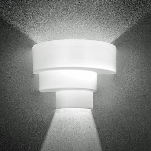 Loop P Wall Lamp / SX Wall Lamp 1x150W E27 white Shiny