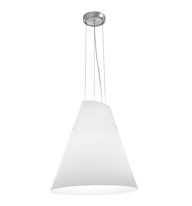 Micene S Pendant Lamp 1x250W + 1x23W E27 white Satin