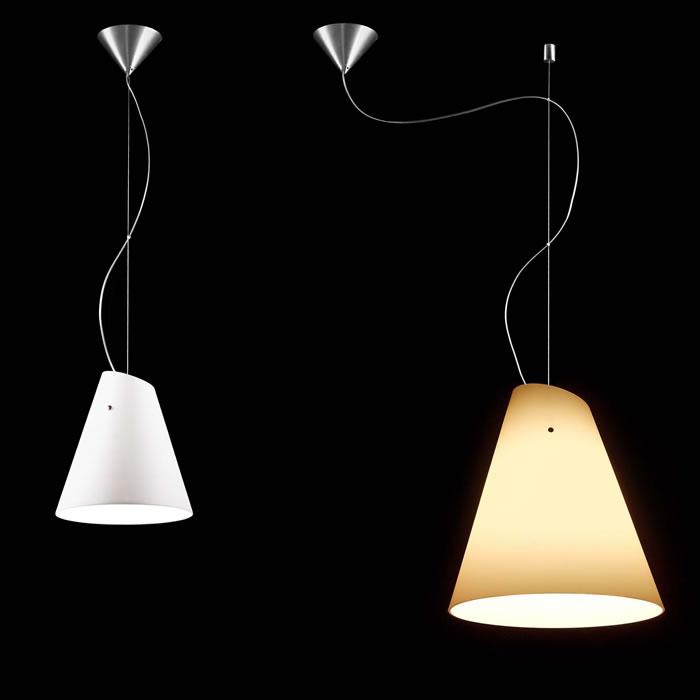 Micene S38 Pendant Lamp 1x150W + 1x23W E27 white Satin