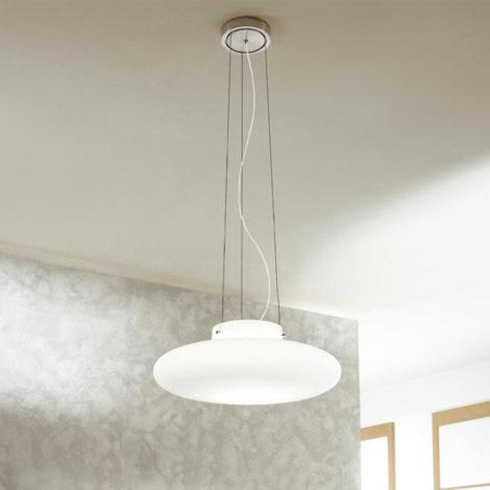 Mild S Pendant Lamp 1x150W E27 white Satin