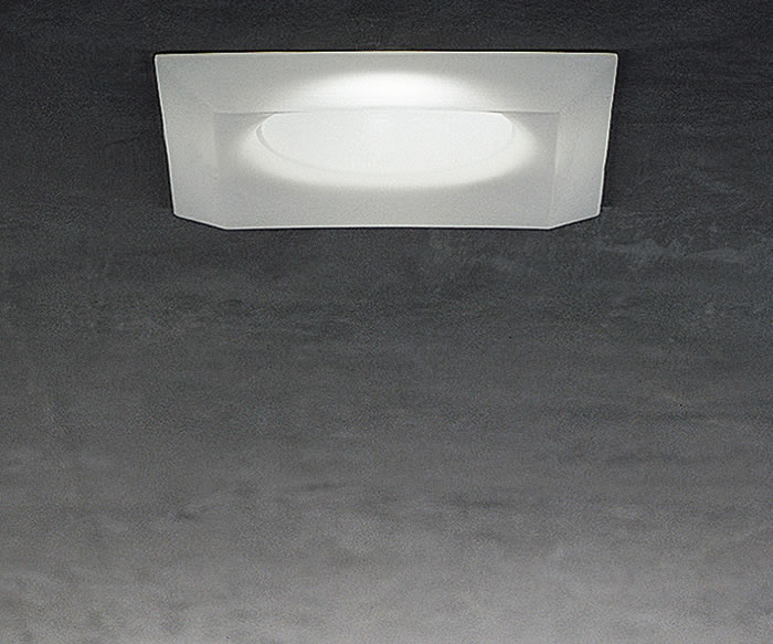 Mira 2 Recessed Ceiling 1x50W GU 5.3 Glass