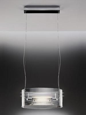 Vittoria S2 C Pendant Lamp chromed 1x200W R7s Glass