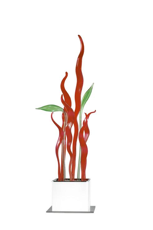 BYBLIS TR8 brotes Green hojas rojas2Gx13 1x22w + GU10 4x50w