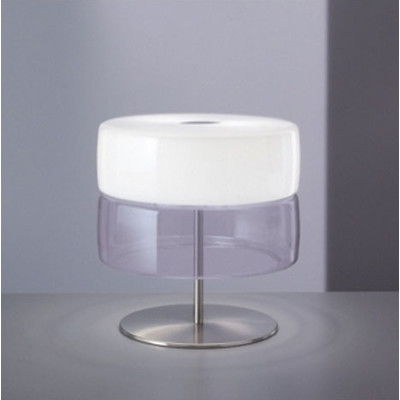 Bisquit T Table Lamp Bco Shiny/Glass.white calido.2Gx13 1X22w
