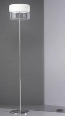 Bisquit TR lámpara of Floor Lamp Bco Shiny/Glass.Nickel mat..2Gx13 1x22w