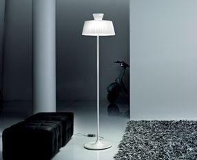 Katerina TR40 lámpara of Floor Lamp white Shiny