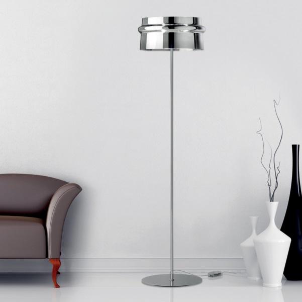Aro TR lámpara of Floor Lamp E27 Chrome/Vidro CRIST.chromed