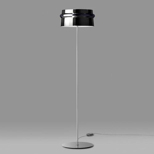 Aro TR lámpara of Floor Lamp E27 Chrome/Vidro Black Pulido