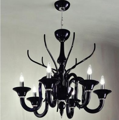 Belzebu L6 lamp Pendant Lamp Chrome Black