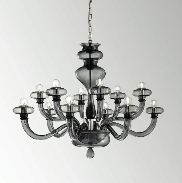 Boheme L12 Lamp Pendant Lamp Grey Transparent