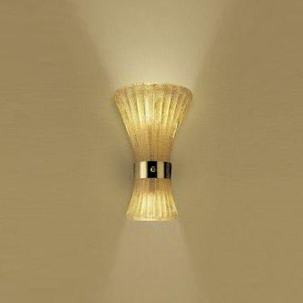 Canaletto P Wall Lamp Glass graniglia/Oro