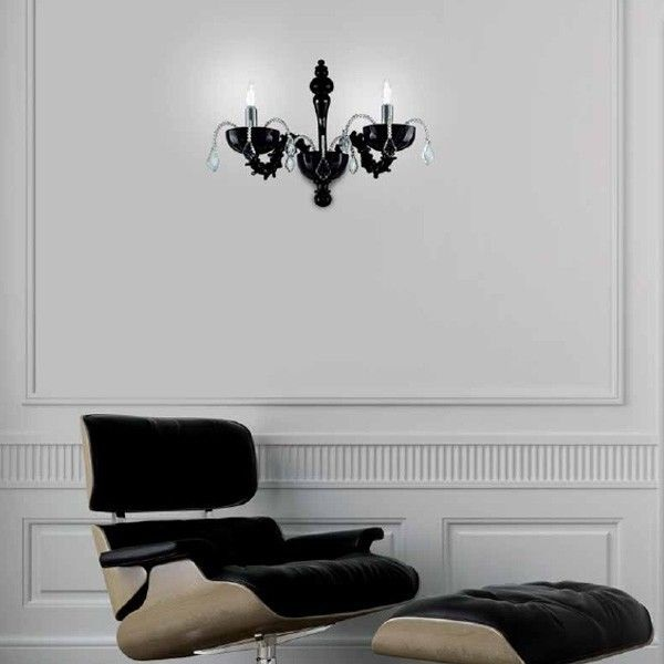 Couture P2 Wall Lamp Black
