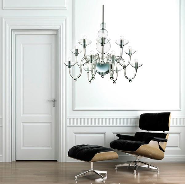 Danieli L12 lamp Pendant Lamp Glass/Chrome