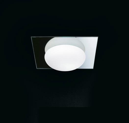 MiniGio P PL Aplique/Plafón blanco marco espejo