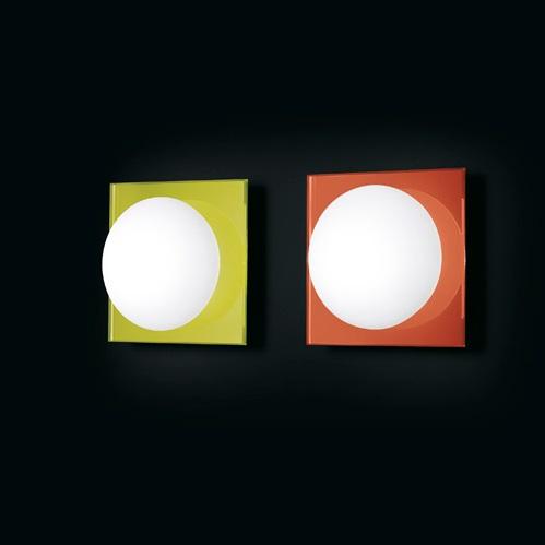 MiniGio P PL Aplique/Plafón blanco marco Naranja P