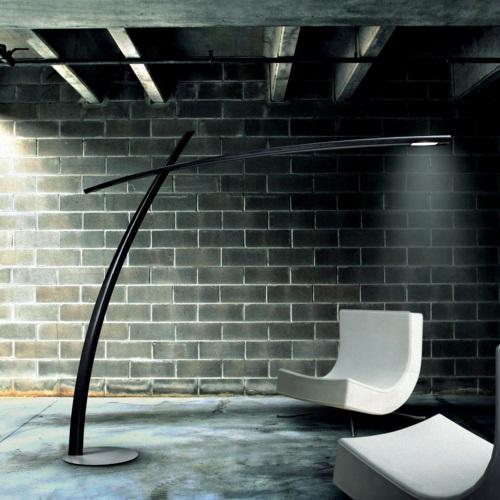 Katana TR Floor Lamp fibra carbono natural Black
