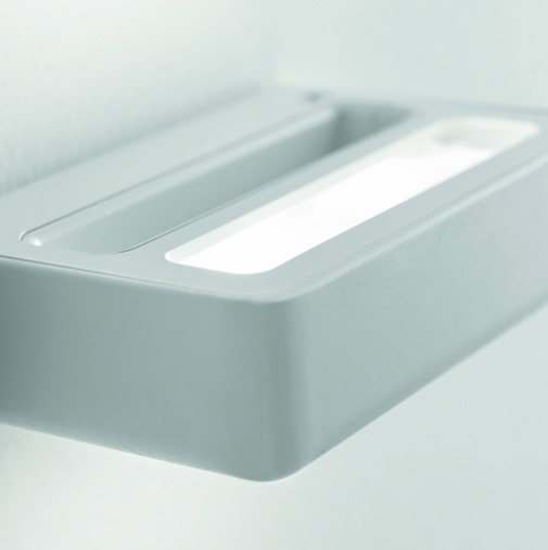 One P Wall Lamp LED 2x3,6W white opaque