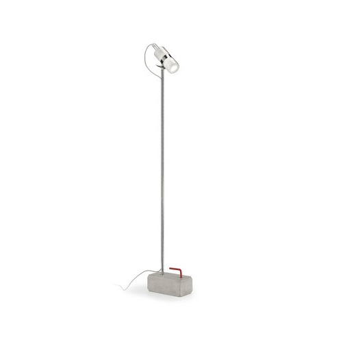 Shaker TR 1 lamp of Floor Lamp base cemento lampshade white cable Transparent