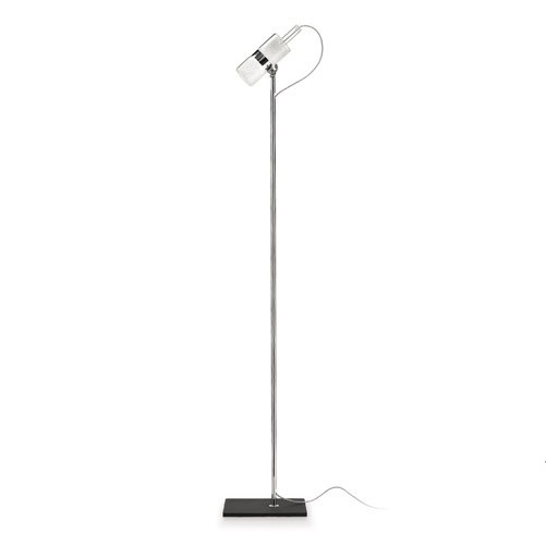 Shaker TR lamp of Floor Lamp base metal lampshade white cable Transparent