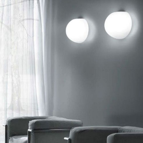 Sphera PP20 Wall lamp/ceiling lamp 1x60W E14 white Satin