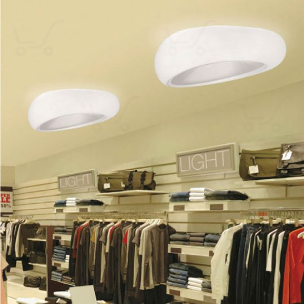 Dunia ceiling lamp Bianco/Natural/Prismatic