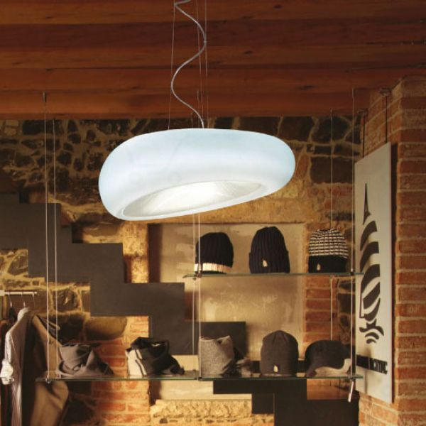 Dunia Pendant Lamp Bianco/Natural/Prismatic