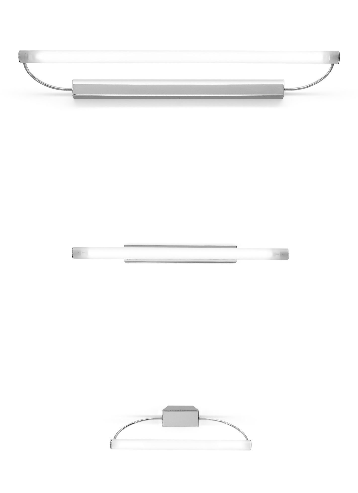 Circular S Aplique Illuminazione Specchiere Cromo