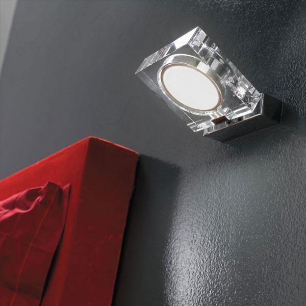 Clear Ajustable Wall Spotlight Transparent