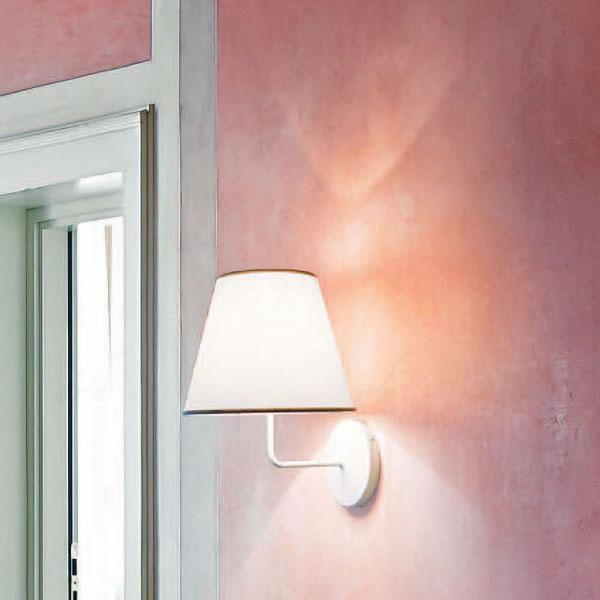 Cotonette Wall Lamp M Bianco/Grigio
