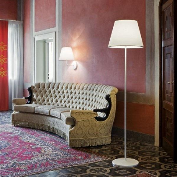 Cotonette of Floor Lamp Bianco/Grigio