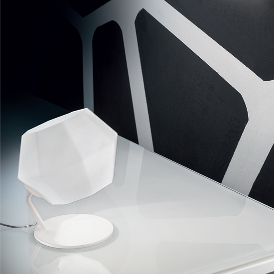 Ottagono Table Lamp 18cm G9 48w Glass opal