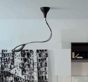 Folia Pendant Lamp LED 1 x 12w 3000K Fibra carbono