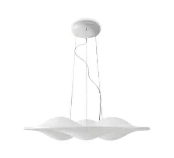 Circle Wave Pendant Lamp ø89cm LED 48w 3000K white