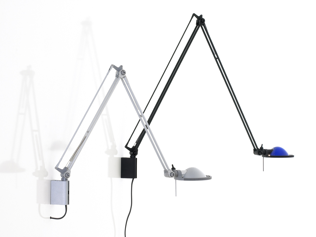 Berenice D12EL Balanced-arm lamp with wall bracket of 45cm Gy6,35 35w Aluminium