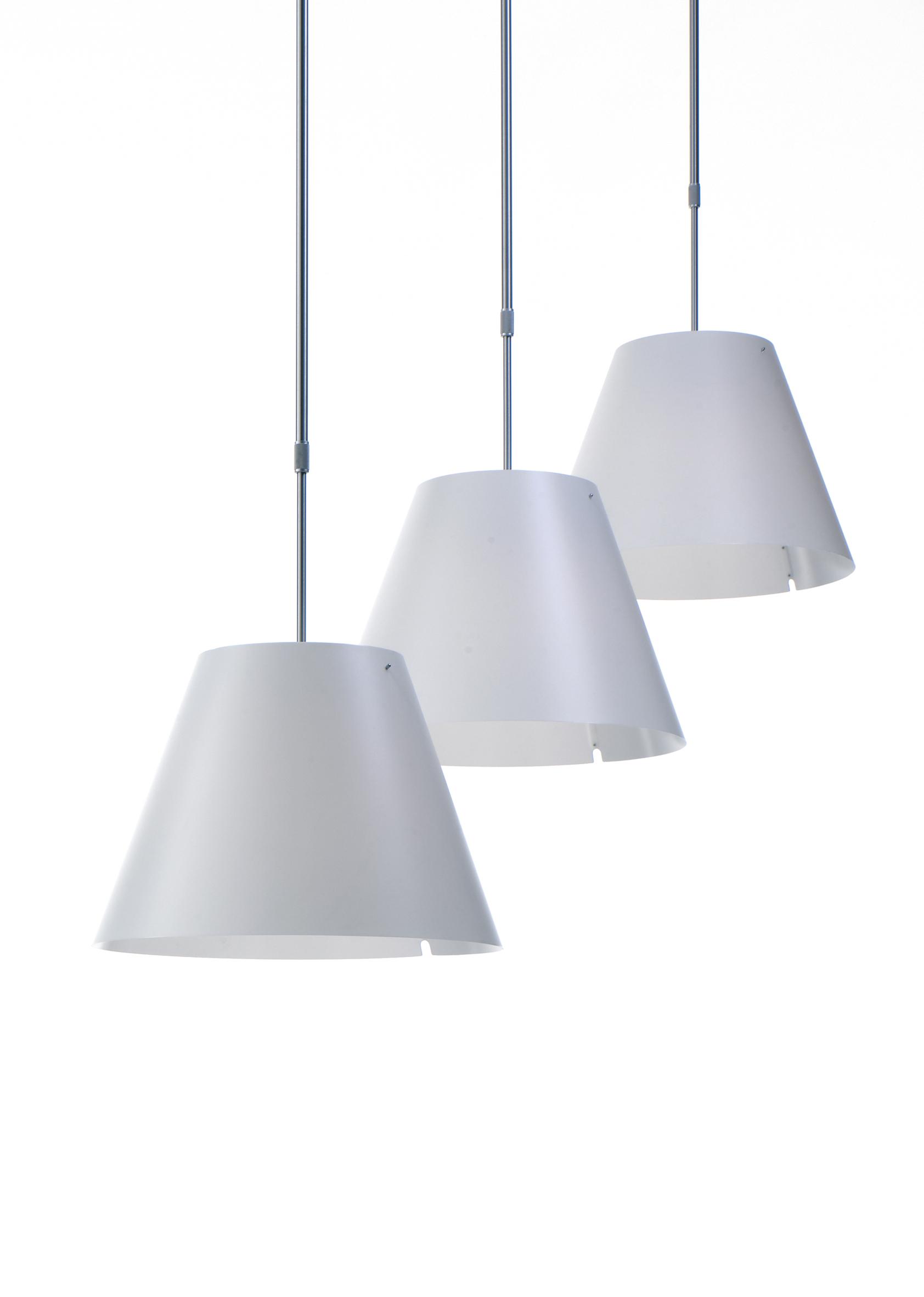 Costanza (Solo Estructura) lámpara Colgante telescópica sin pantalla E27 - Aluminio