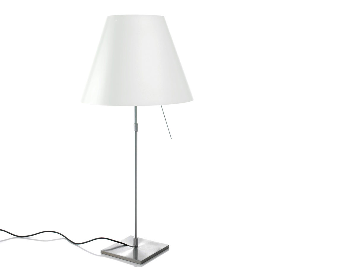 Costanza (Solo Structure) Table Lamp telescópica with dimmer and perno without lampshade E27 - white