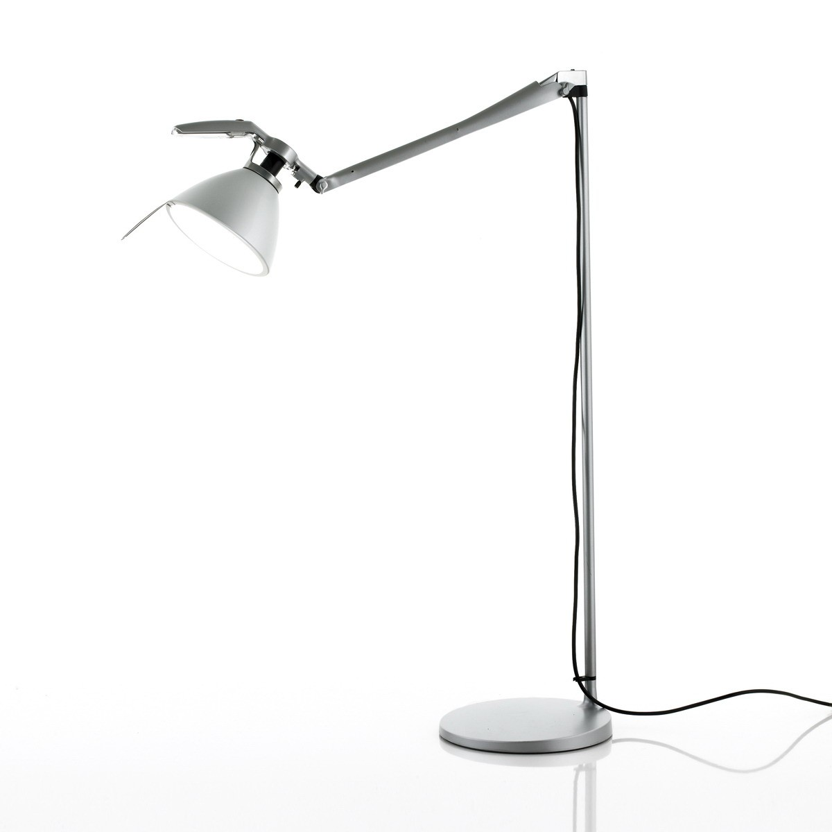 D33Nt.100D Fortebraccio (Structure) lámpara of Floor Lamp with dimmer ø16cm E27 Black