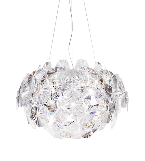 D66/18 Hope Pendant Lamp descentrada ø72cm 1x250w E27 Transparent