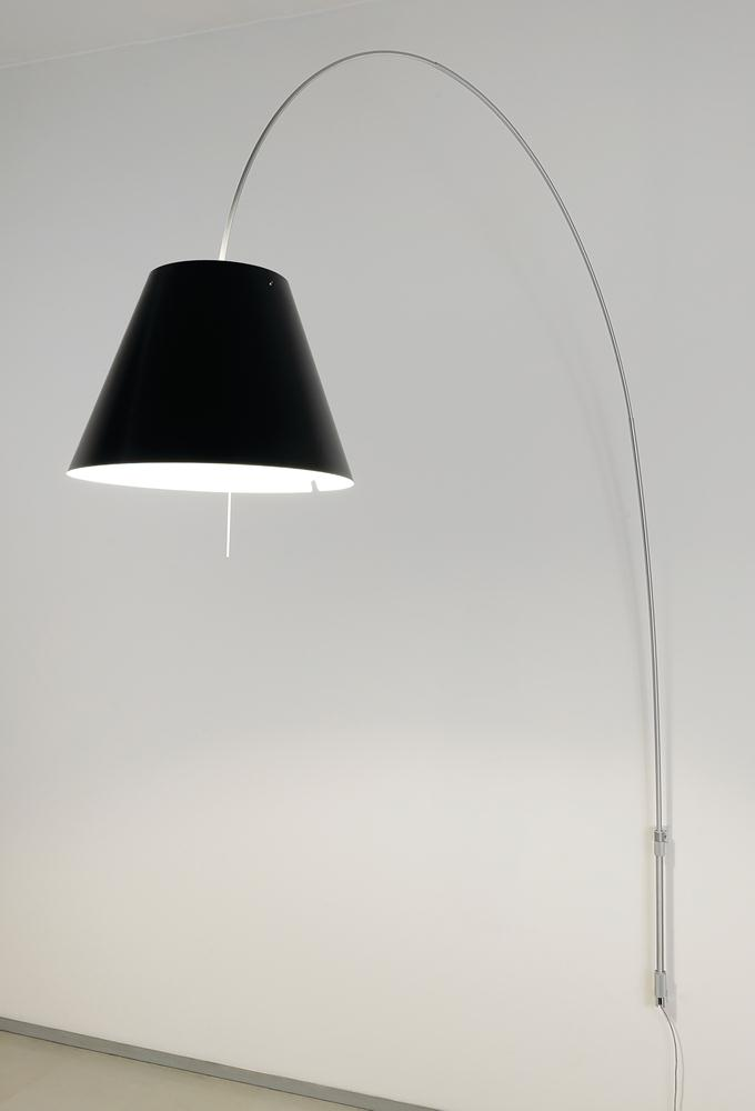 Lady Costanza (Solo Structure) Wall Lamp telescopic with dimmer without lampshade E27 - Aluminium