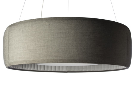 Silenzio Lampe Suspension tissu ø90 Sable