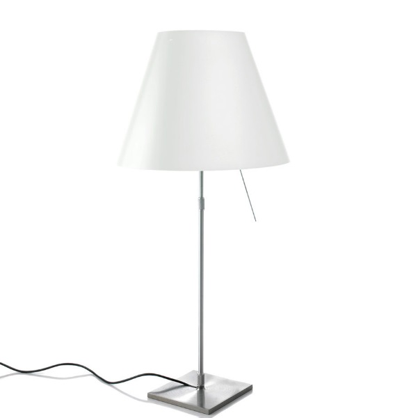 Costanzina Table Lamp versión Complete switch white lampshade - Aluminium