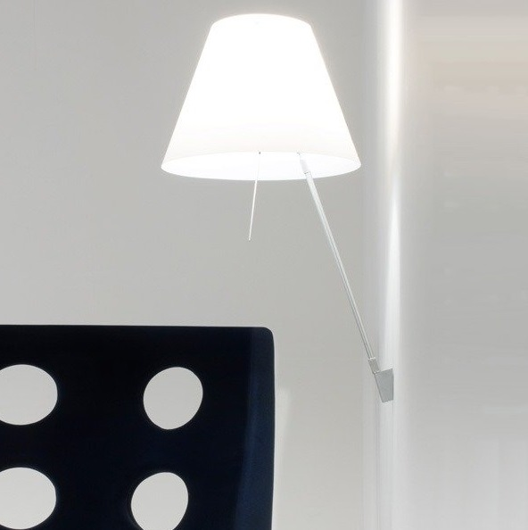 Costanzina (Solo Structure) Wall Lamp with switch without lampshade E14 FBT 12w - white